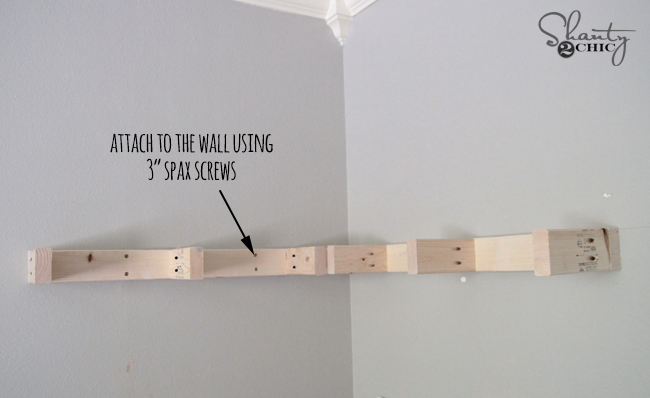 diy floating corner shelves - shanty 2 chic Attach Shelf to Wall