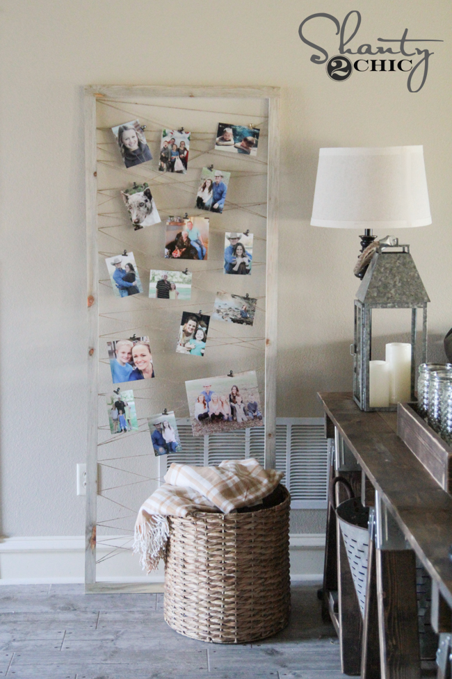 DIY Photo Display Tutorial by Shanty2Chic