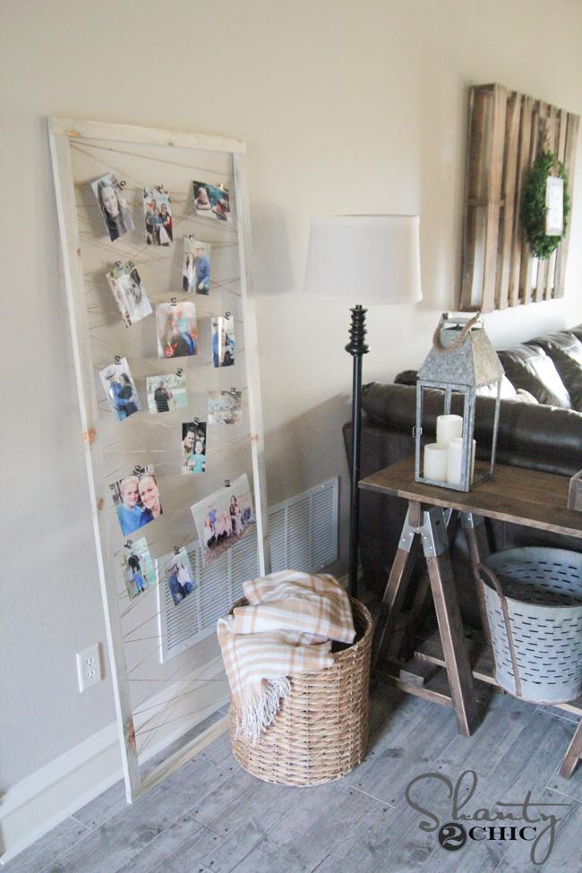 DIY Photo Frame Display by Shanty2Chic