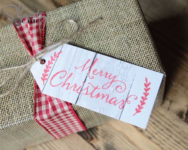 Free Printable Christmas Tags by Shanty2Chic