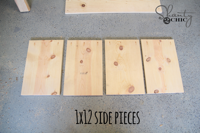 Side Pieces of Train Table