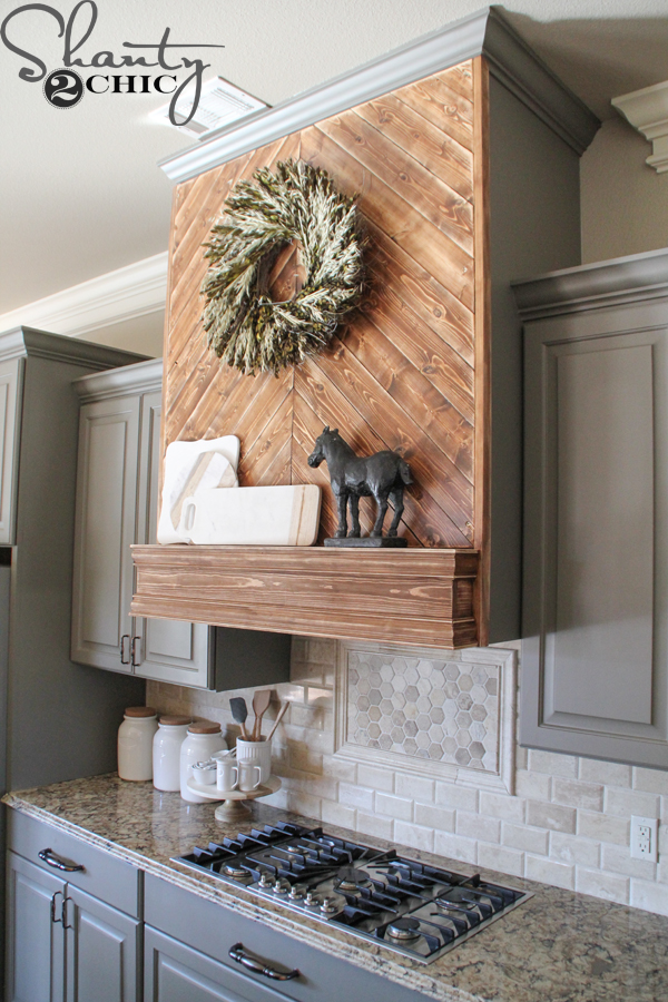Wood Chimney Hoods ~ Diy wooden vent hood shanty chic