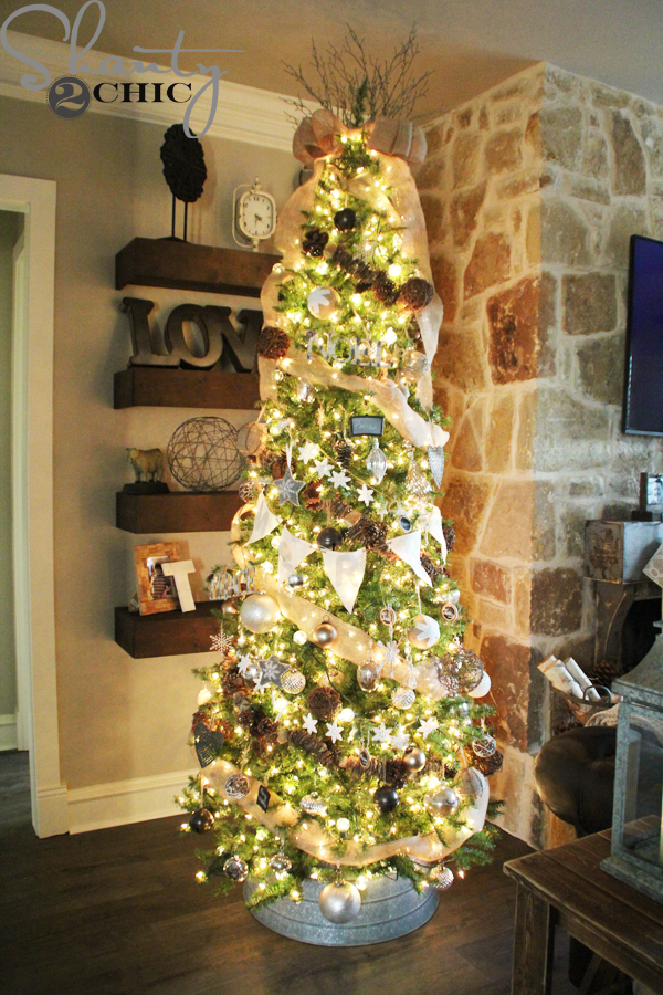 rustic christmas tree decor