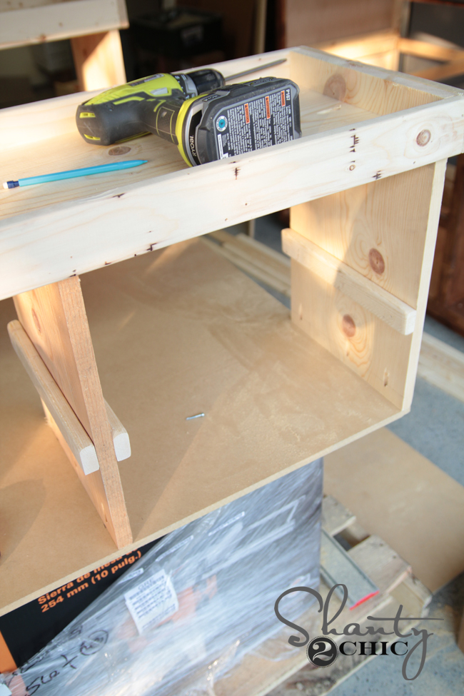 side of train table assembly