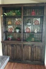 Hutch to match the Triple Pedestal Farmhouse Table
