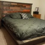 Platform bed and headboard