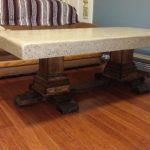Concrete Pedestal Coffee Table