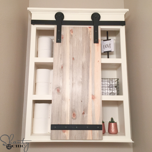 diy sliding barn door bathroom cabinet shanty 2 chic