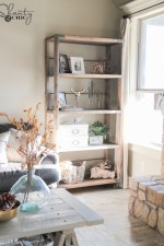 DIY Industrial Cart Bookcase