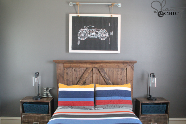 DIY Motorcycle Wall Art