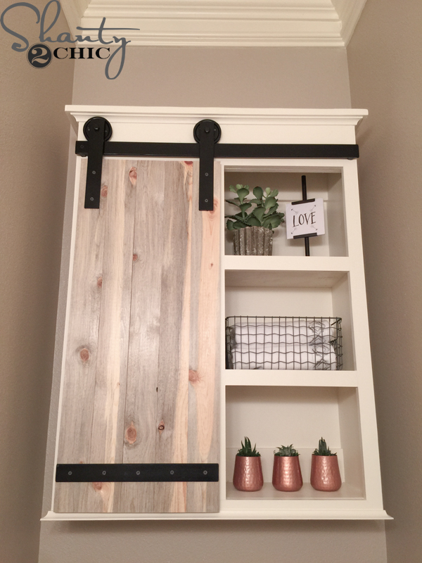 Bon DIY Sliding Barn Door For Bathroom