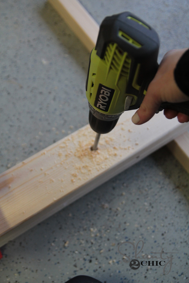 Drill holes for bookcase