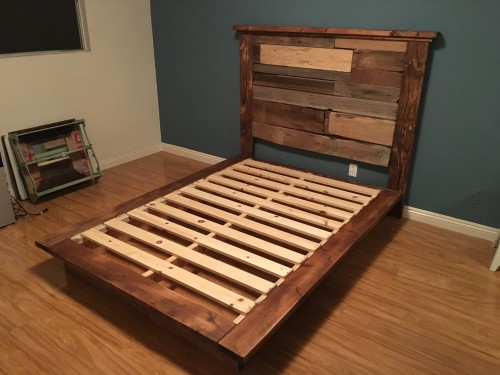 Rustic Reclaimed Platform Bed Shanty 2 Chic