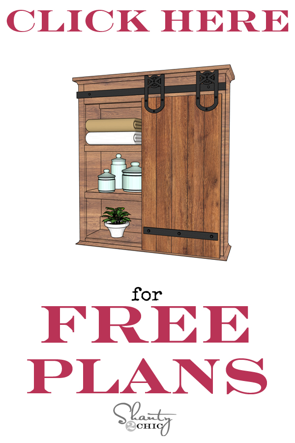 Click Here Barn Door Cabinet Plans