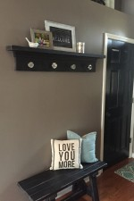 Entryway shelf and bench