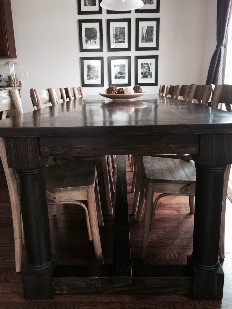 Farmhouse Dining Room Table Plans
