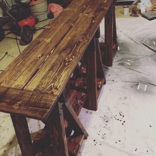 Sawhorse Table Shanty 2 Chic