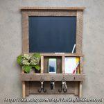Rustic Chalkboard Mail Organizer