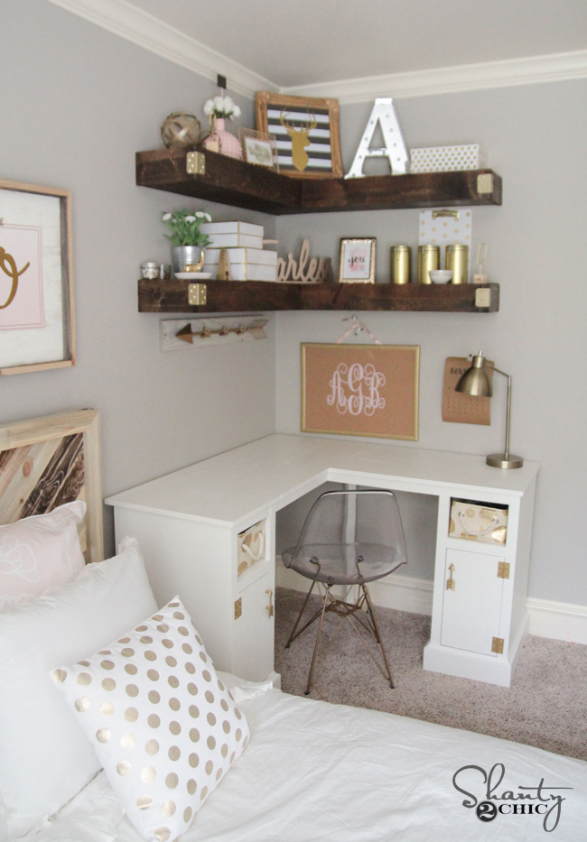 Diy Corner Desk Shanty 2 Chic