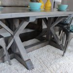 Weathered Grey Farmhouse Table