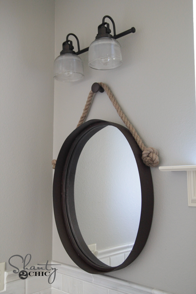 Bathroom Mirrors Farmhouse diy farmhouse bathroom vanity - shanty 2 chic