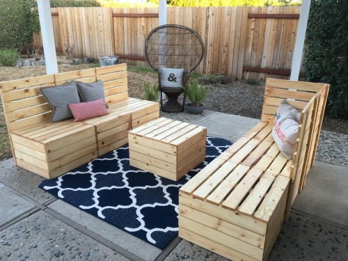 DIY Couple Tackle Outdoor Sectional - Shanty 2 Chic