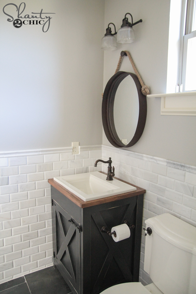 Bathroom Vanity Farmhouse diy farmhouse bathroom vanity - shanty 2 chic