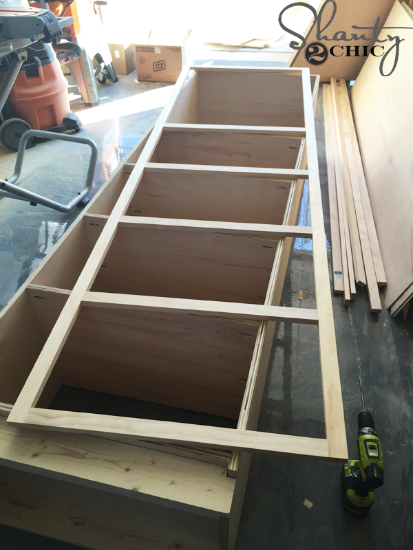 Diy Shelves For My Sliding Barn Door Media Console