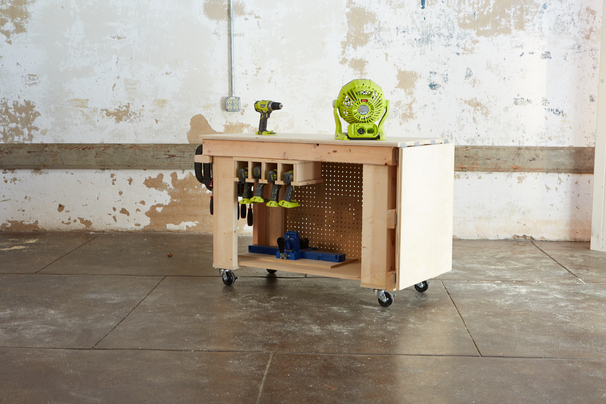 Diy Rolling Workbench Shanty 2 Chic