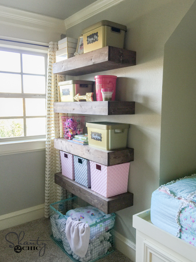 DIY Floating Shelves by Shanty2Chic