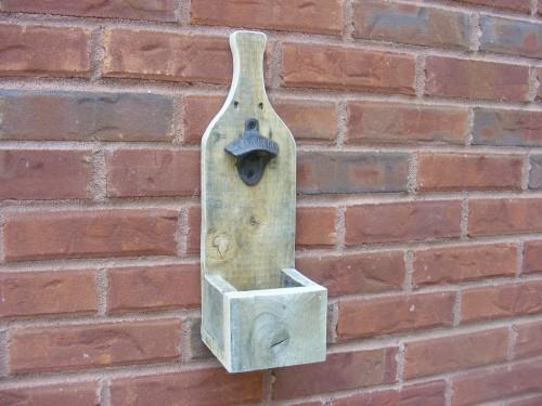 bottle opener from pallet wood shanty 2 chic. Black Bedroom Furniture Sets. Home Design Ideas