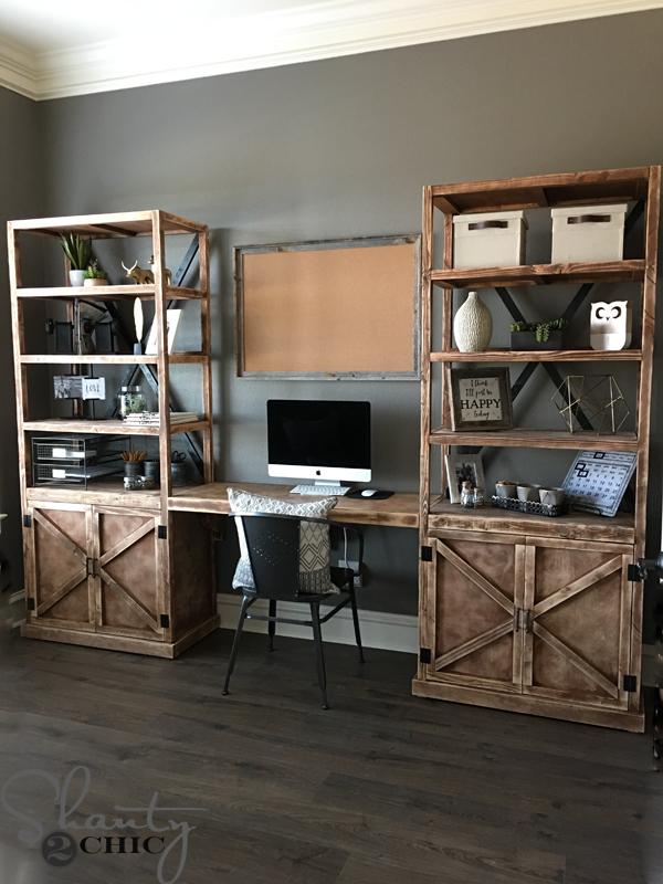 Diy Office Desk System Shanty 2 Chic