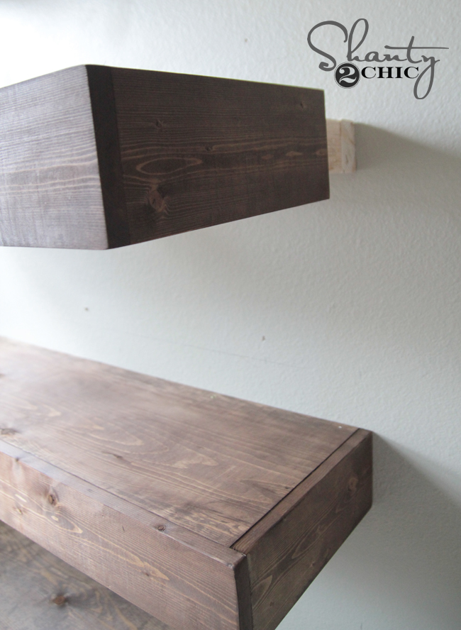 attaching shelves to braces