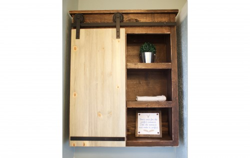 Sliding Barn Door Bathroom Cabinet