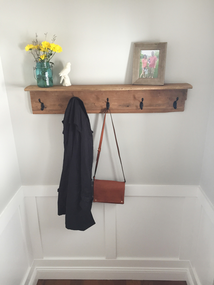 How To Build A Farmhouse Coat Rack Out Of 100 Year Old