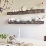 Floating dining shelves