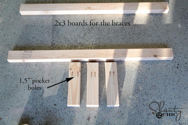 wood for braces of floating shelves