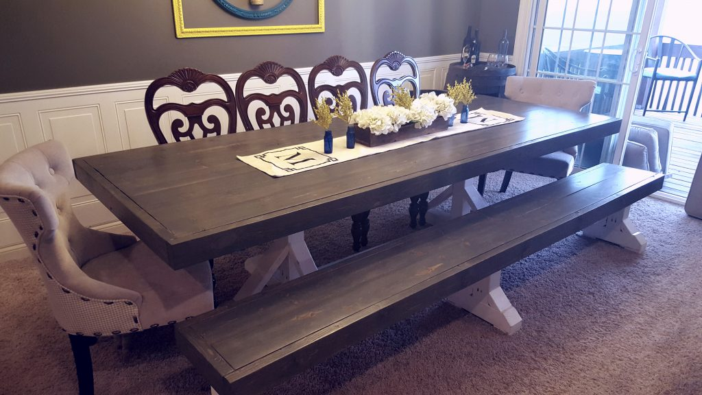 Restoration Hardware Inspired Dining Table For 110 DIY Desk Shanty 2 Chic Legs Etsy