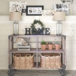 DIY Industrial Cart Console Table