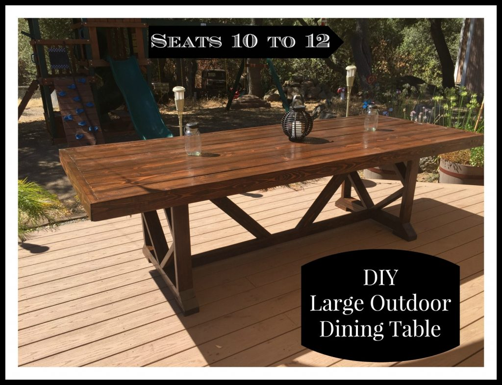 diy large outdoor dining table shanty 2 chic. Black Bedroom Furniture Sets. Home Design Ideas