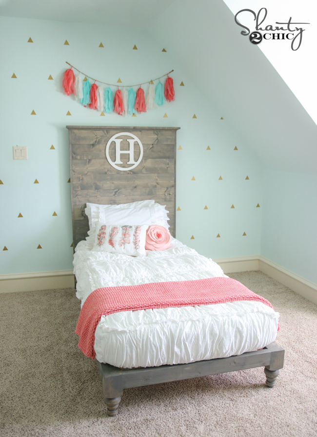 DIY Twin Platform Bed by Shanty2Chic