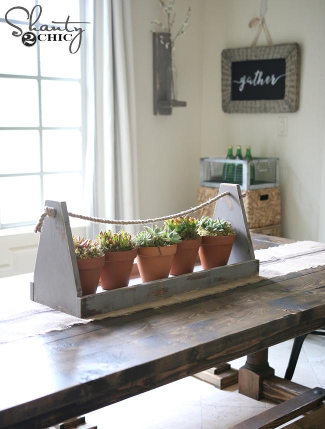 DIY Wood Box Centerpiece by Shanty2Chic