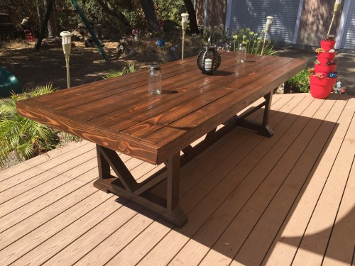 Table From Shanty 2 Chic To Build The Top In A Longer Design And Created My Own For Base Stained With Varathane Dark Walnut Finished