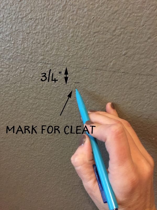 Mark-for-cleat