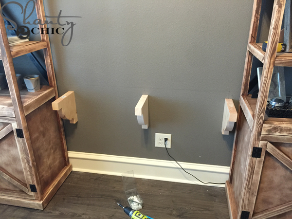 attach-corbels-to-wall