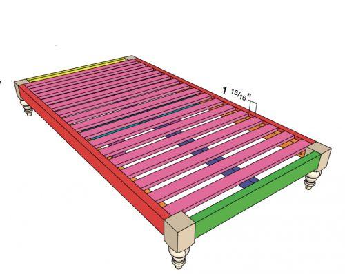 diy twin platform bed and headboard
