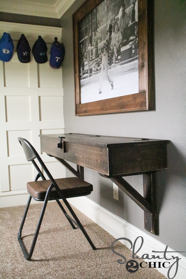 Diy Floating Desk With Storage Shanty 2 Chic