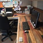 Rustic L Shaped Desk