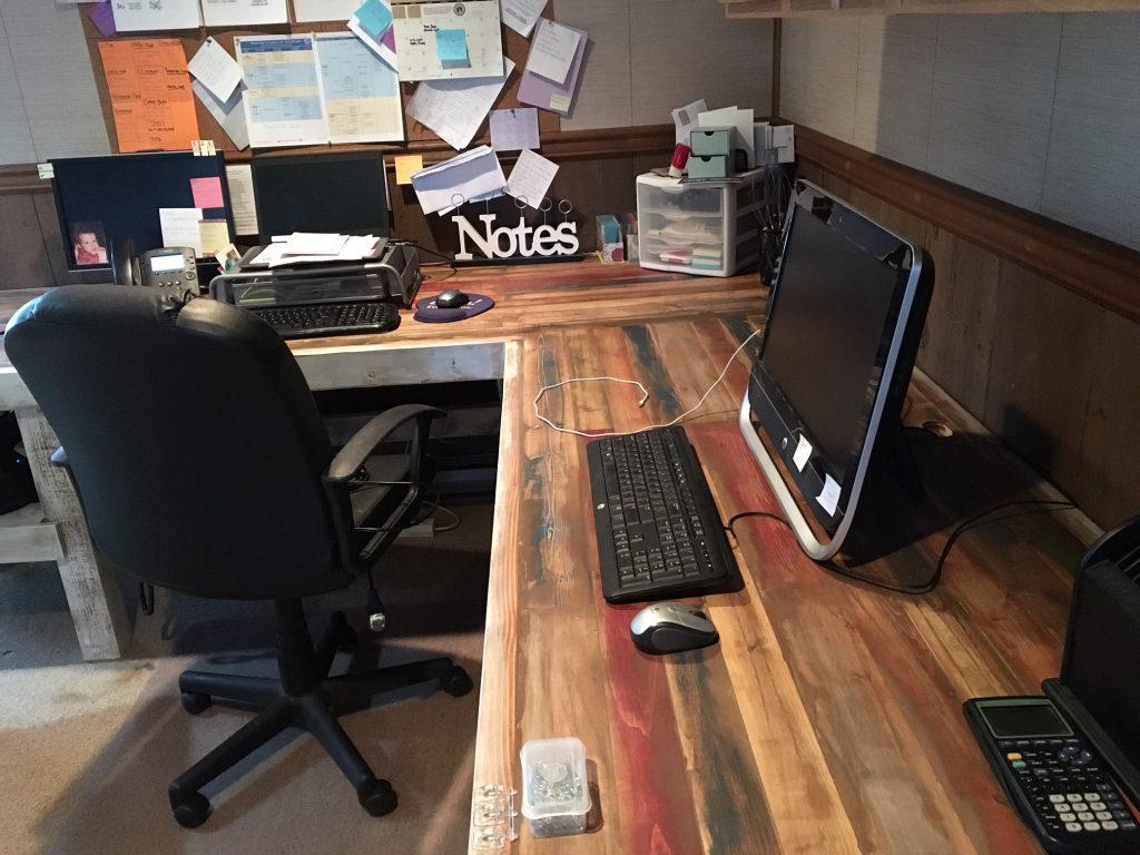 Rustic L Shaped Desk - Shanty 2 Chic