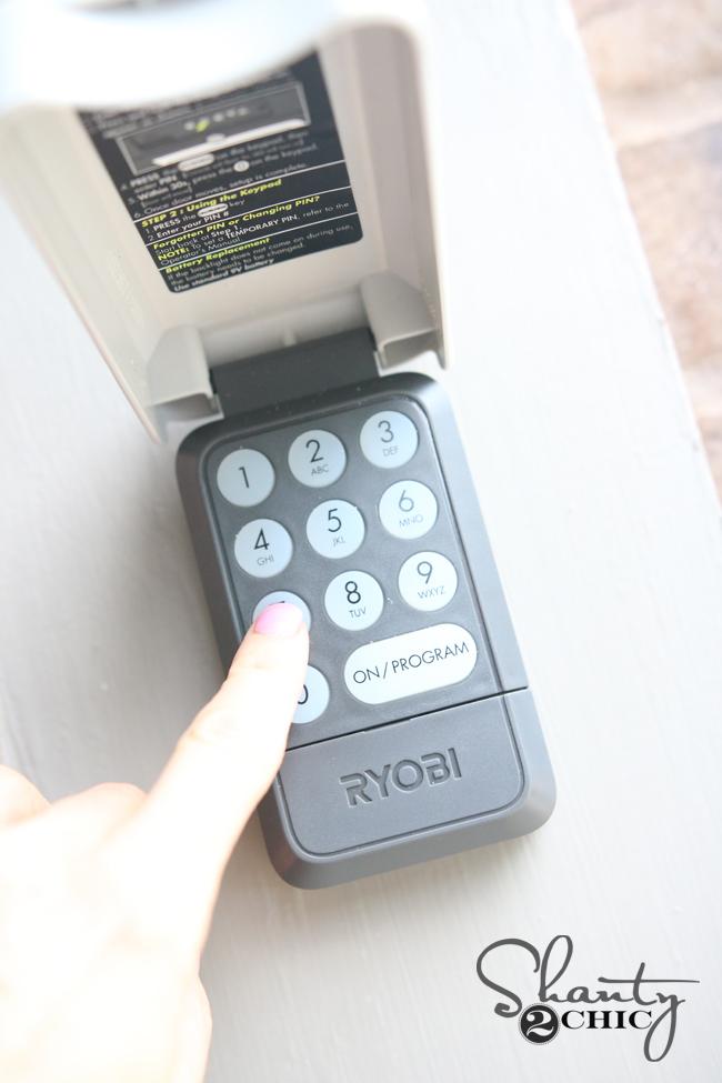 Ryobi Garage Door Opener Outside Remote & Ryobi Garage Door Opener \u0026 Giveaway!!! - Shanty 2 Chic